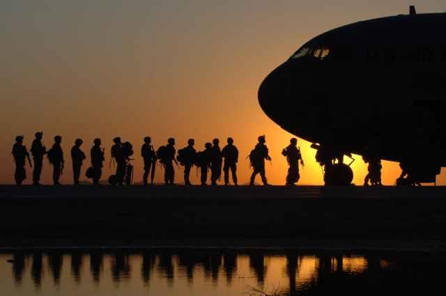 flight sky sunset men