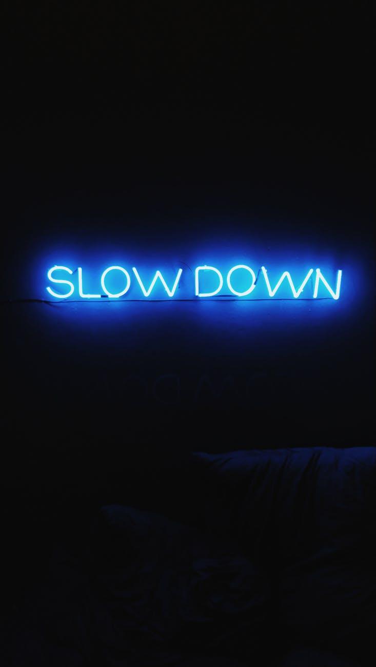 slow down logo