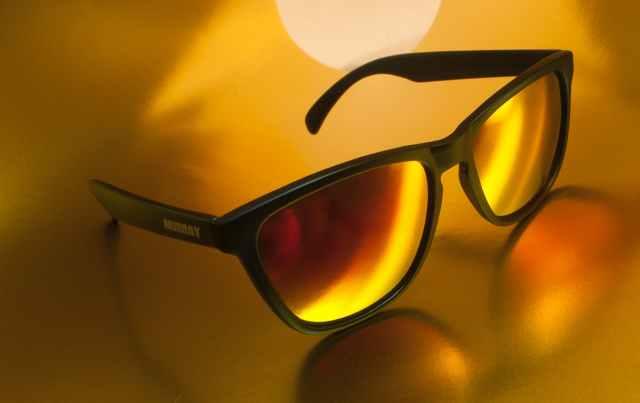 close up of sunglasses