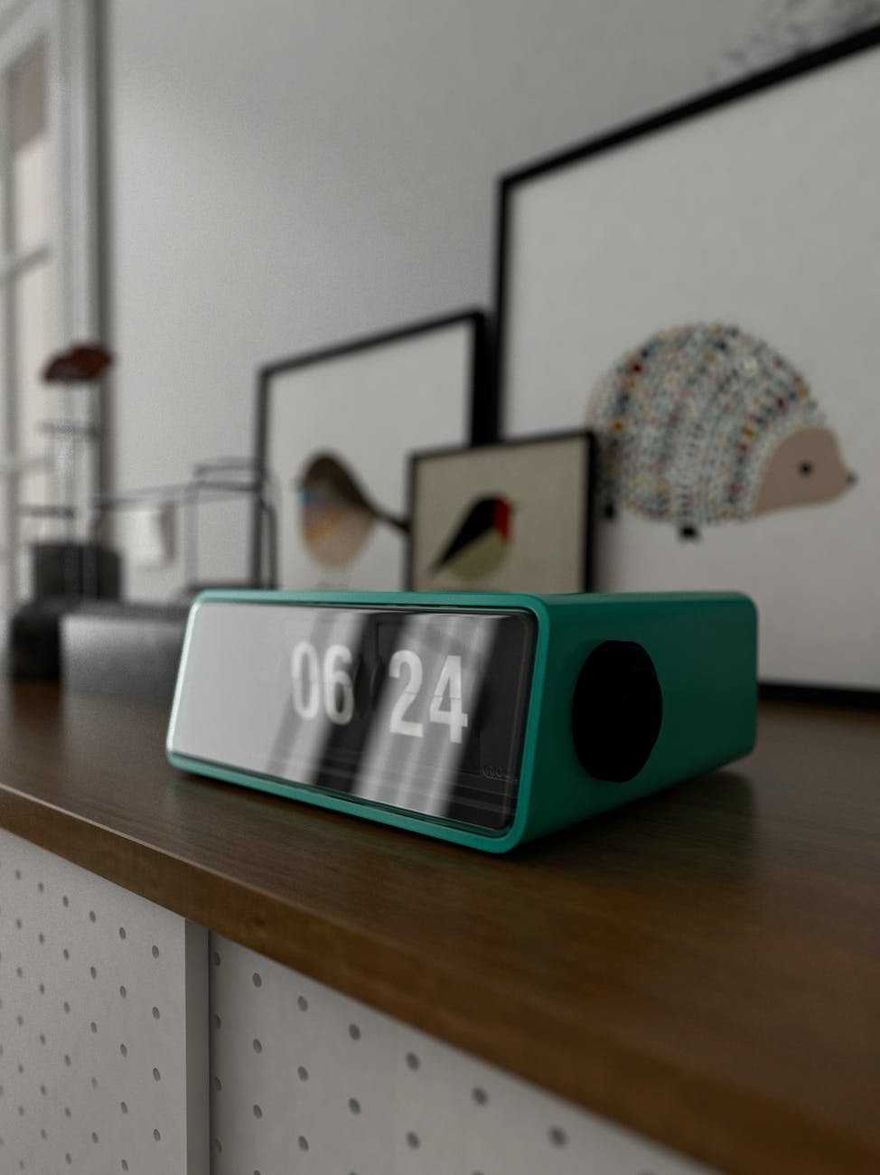 close up photo of teal digital clock